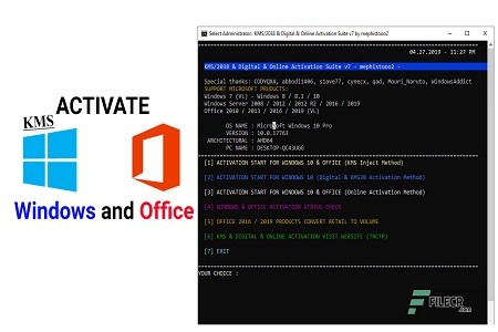 KMS/2038 & Digital & Online Activation Suite 8.7 for Windows & Office